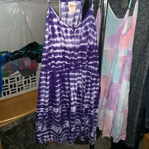 Purple tye dye dress